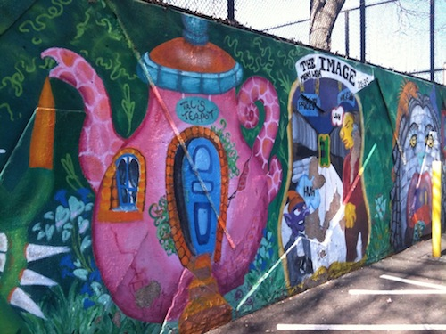Lady Pink's Mural Project with High School Students in Astoria