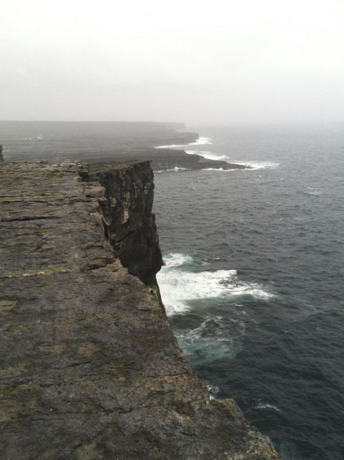 The cliffs of Dún Aonghus on the island of Inishmore.