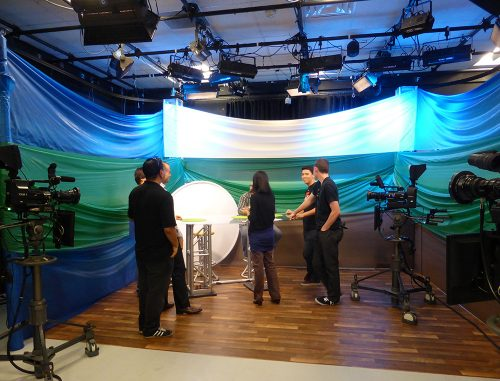 The public access studio at CreaTV in San Jose.