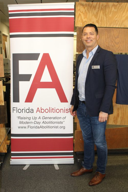 Tomas Lares outside a Florida Abolitionist Task Force meeting in March 2016