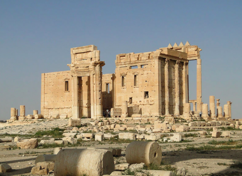 The Temple of Bel before its destruction in August, 2015.